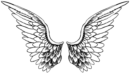 Project angel wings for Angel wings coloring pages